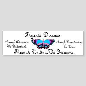 Butterfly Awareness 1 (Thyroid Disease) Sticker (B