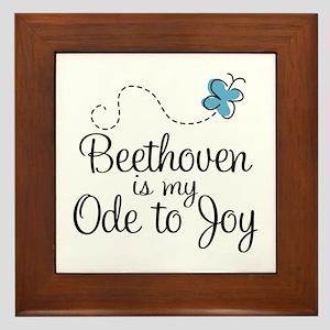 Beethoven Ode To Joy Framed Tile