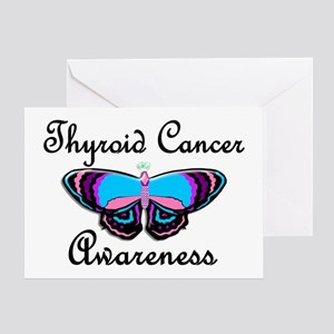 Butterfly Awareness 2 (Thyroid Cancer) Greeting Ca