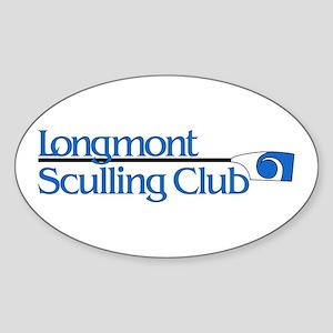 Longmont Sculling Club Oval Sticker