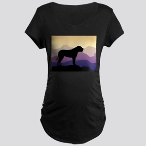 Purple Mountains Bullmastiff Maternity Dark T-Shir