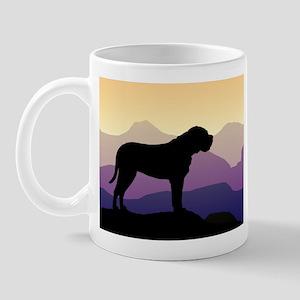 Purple Mountains Bullmastiff Mug