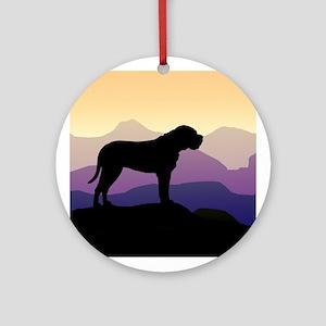 Purple Mountains Bullmastiff Ornament (Round)