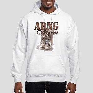 ARNG Mom Combat Boots N Dog Tags Hooded Sweatshirt