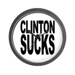 Clinton Sucks Wall Clock