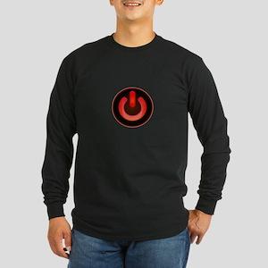 Power Symbol Red Long Sleeve Dark T-Shirt