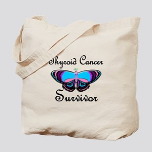 Butterfly Survivor 1 (Thyroid Cancer) Tote Bag