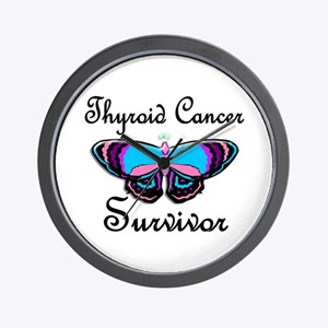 Butterfly Survivor 1 (Thyroid Cancer) Wall Clock