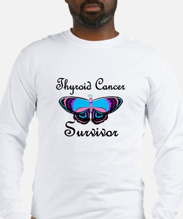 Butterfly Survivor 1 (Thyroid Cancer) Long Sleeve