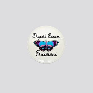 Butterfly Survivor 1 (Thyroid Cancer) Mini Button