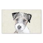Russell Terrier (Rough) Sticker (Rectangle 10 pk)