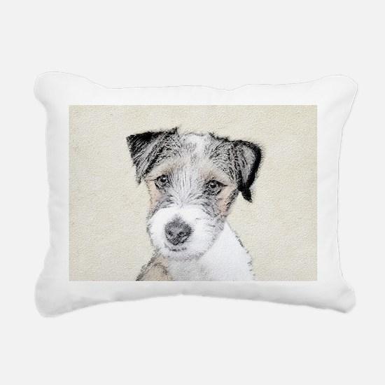 Russell Terrier (Rough) Rectangular Canvas Pillow