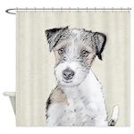 Russell Terrier (Rough) Shower Curtain