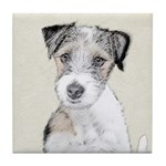 Russell Terrier (Rough) Tile Coaster