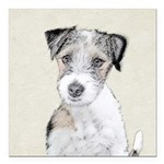 Russell Terrier (Rough) Square Car Magnet 3
