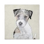 Russell Terrier (Rough) Queen Duvet