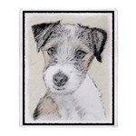 Russell Terrier (Rough) Throw Blanket