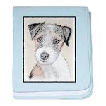 Russell Terrier (Rough) baby blanket