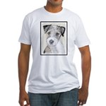 Russell Terrier (Rough) Fitted T-Shirt