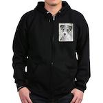 Russell Terrier (Rough) Zip Hoodie (dark)