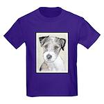 Russell Terrier (Rough) Kids Dark T-Shirt
