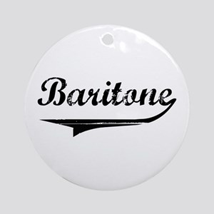 Baritone Swish Ornament (Round)