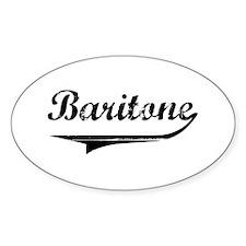 Baritone Swish Oval Sticker