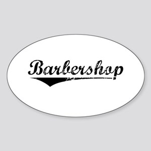 barbershop Sticker (Oval)
