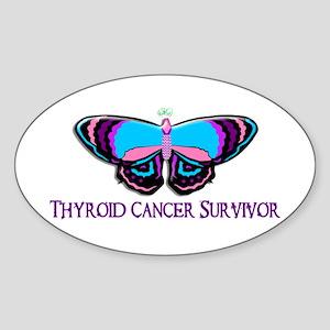 Butterfly Survivor 2 (Thyroid Cancer) Sticker (Ova