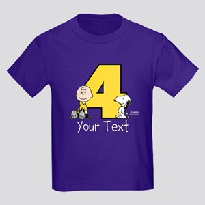 b3e3918aea7 Charlie Brown Snoopy 4-Year-Old Kids Dark T-Shirt
