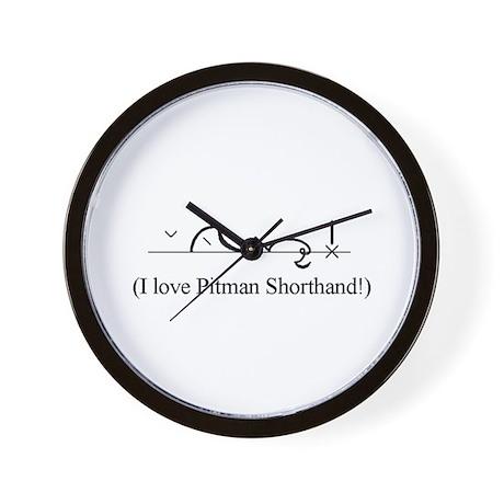 I Love Pitman Shorthand Wall Clock