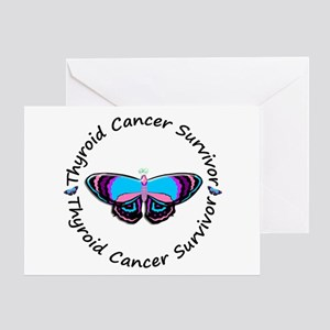 Butterfly Survivor 3 (Thyroid Cancer) Greeting Car