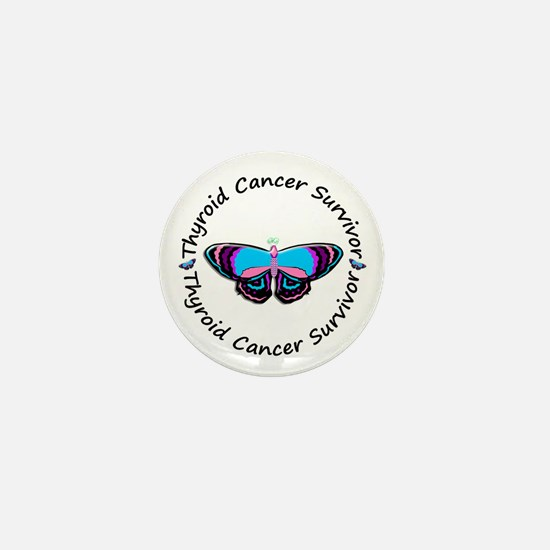 Butterfly Survivor 3 (Thyroid Cancer) Mini Button