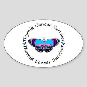 Butterfly Survivor 3 (Thyroid Cancer) Sticker (Ova