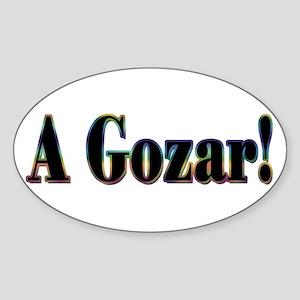 A Gozar! Oval Sticker