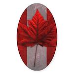 Canada Maple Leaf Souvenir Sticker (Oval 10 pk)