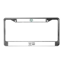 funny silly face License Plate Frame