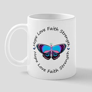 Butterfly Hope 3 (Thyroid Cancer) Mug