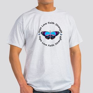 Butterfly Hope 3 (Thyroid Cancer) Light T-Shirt