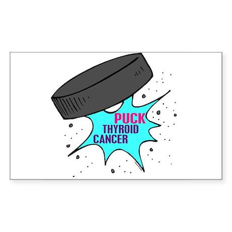 """PUCK"" Thyroid Cancer 1 Rectangle Sticker"