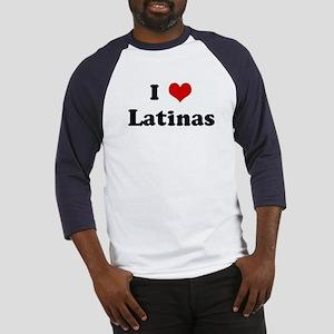 I Love Latinas Baseball Jersey