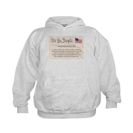 Amendment VII w/Flag Kids Hoodie