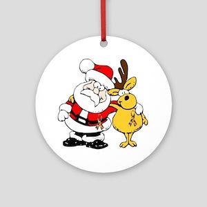Autism Awareness Christmas design Ornament (Round)