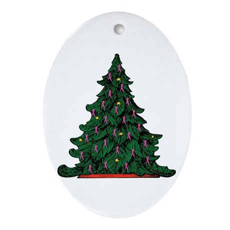 Breast Cancer Awareness Christmas Tree Ornament (O