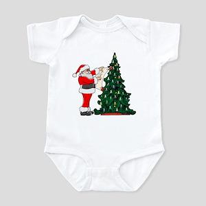 Cancer Awarenss ribbon Christmas Tree Infant Bodys