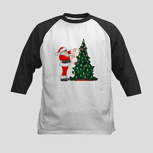 Cancer Awarenss ribbon Christmas Tree Kids Basebal