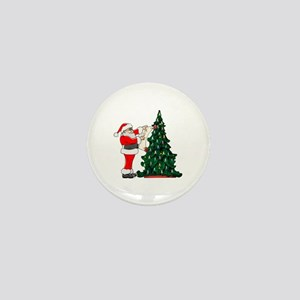 Cancer Awarenss ribbon Christmas Tree Mini Button