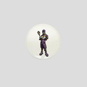 Lacrosse Defenseman Mini Button