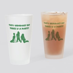 TWO'S COMPANY Drinking Glass