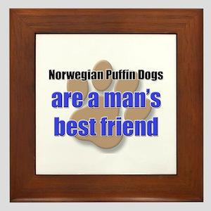 Norwegian Puffin Dogs man's best friend Framed Til